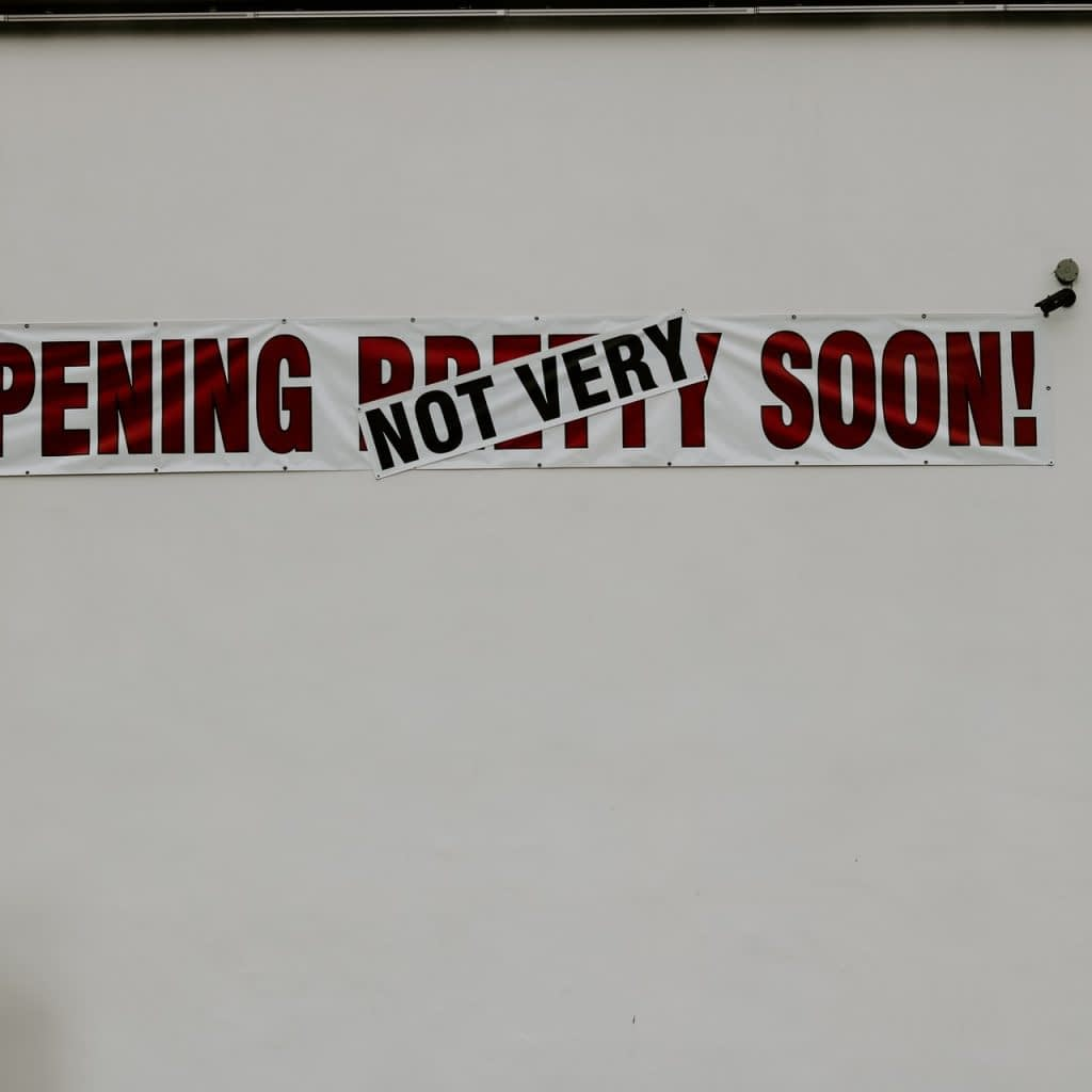 Opening (not) very soon